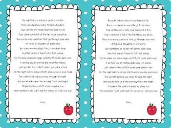 Ready Confetti Poem