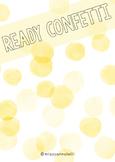 Ready Confetti Tags