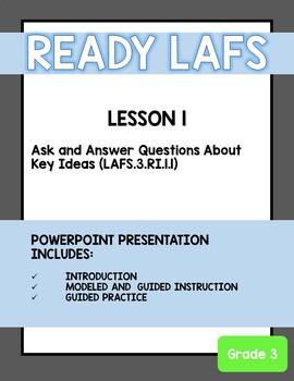 Ready Florida LAFS 3rd Grade Lesson 1 PowerPoint Presentation