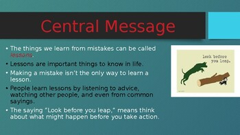 Ready Florida LAFS - Unit 1:  Lesson 5 - Central Message