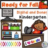 Ready For Fall Digital and Done Packet for Google Classroom