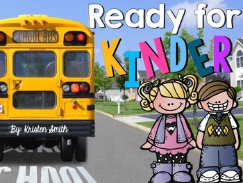 Ready For Kindergarten- Back To School Centers