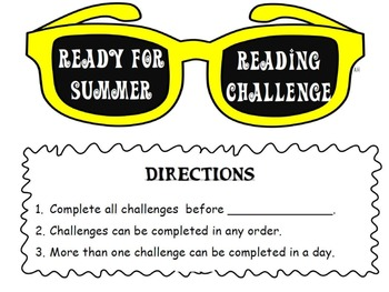 Ready For Summer Reading Challenge