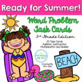 Summer Word Problem Task Cards {Multiplication, Division}