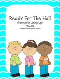 Ready For The Hall (Poems For Lining Up) -Freebie