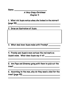 Ready FreddY! A Very Crazy Christmas comprehension questions