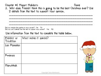 Ready, Freddy!  A Very Crazy Christmas Comprehension Questions