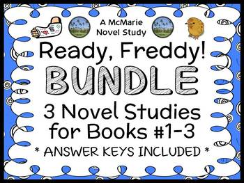 Ready, Freddy! Bundle (Abby Klein) 3 Novel Studies : Books #1 - 3
