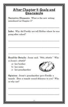 Ready, Freddy! Don't Sit on My Lunch! (Abby Klein) Novel Study / Comprehension
