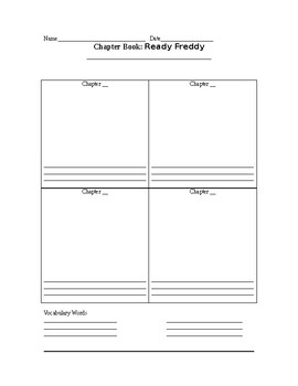 Ready Freddy Graphic Organizer