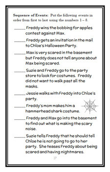 Ready, Freddy! Halloween Fraidy-Cat (Abby Klein) Novel Study / Comprehension
