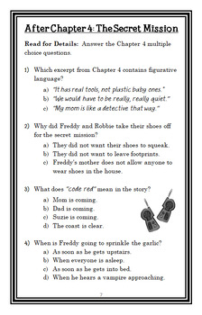 Ready, Freddy! Help! A Vampire's Coming! (Klein) Novel Study / Comprehension