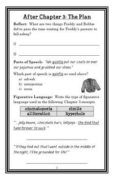 Ready, Freddy! Homework Hassles (Abby Klein) Novel Study / Reading Comprehension