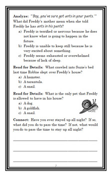 Ready, Freddy! Homework Hassles (Abby Klein) Novel Study / Comprehension
