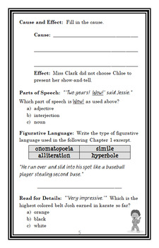 Ready, Freddy! Ninja Worrier (Abby Klein) Novel Study / Comprehension (27 pages)