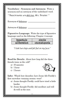 Ready, Freddy! Ready, Set, Snow! (Klein) Novel Study / Reading Comprehension