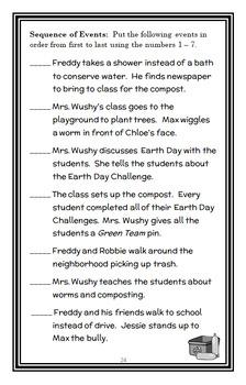 Ready, Freddy! Save the Earth! (Abby Klein) Novel Study / Comprehension (28 pgs)