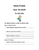 Ready, Freddy! Save the Earth By Abby Klein Comprehension Packet