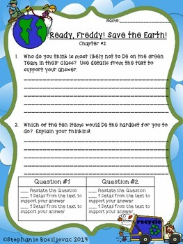 Ready Freddy!  Save the Earth! (Discussion Questions)