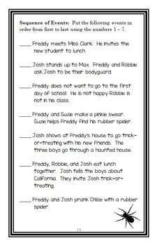 Ready, Freddy! Welcome to Second Grade! (Abby Klein) Novel Study / Comprehension