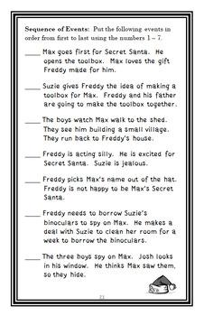 Ready, Freddy! Secret Santa Surprise (Abby Klein) Novel Study / Comprehension