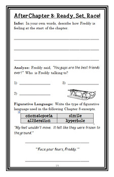 Ready, Freddy! Snow Day Dare (Abby Klein) Novel Study / Reading Comprehension
