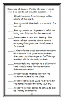 Ready, Freddy! Stop That Hamster! (Abby Klein) Novel Study / Comprehension