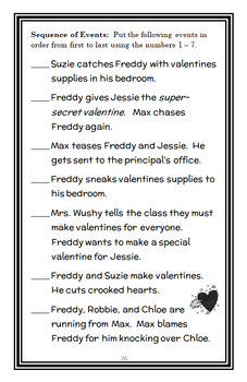 Ready, Freddy! Super-Secret Valentine (Abby Klein) Novel Study / Comprehension