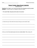 Ready, Freddy Super Secret Valentine Comprehension Questions