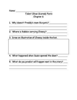 Ready Freddy! Talent Show Scaredy Pants comprehension questions