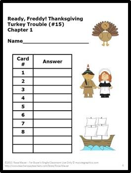 Ready Freddy Thanksgiving Turkey Trouble Book Unit