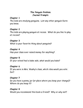 Ready Freddy! The Penguin Problem comprehension questions