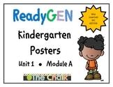 ReadyGEN Kindergarten Posters Unit 1 Module A