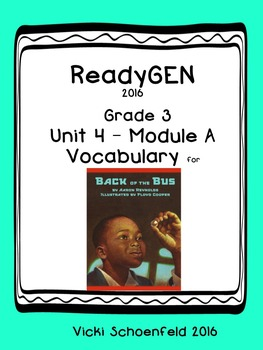 Ready GEN Vocabulary The Back of the Bus