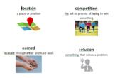 Ready Gen 3rd Grade Unit 1 Module Vocabulary Cards
