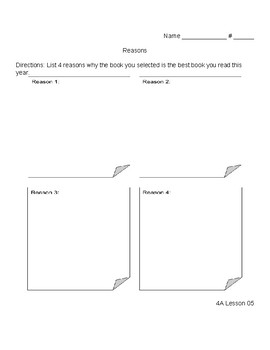 Ready Gen 3rd Grade Unit 4 Module A Lessons 1 - 10 Writing Organizers