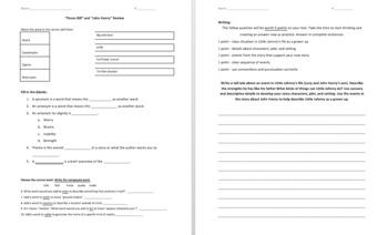 Ready Gen 4th Grade - Pecos Bill & John Henry Test Review - Editable