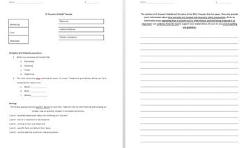 Ready Gen 4th Grade - Tsunami Unfolds Test Review - Editable