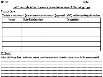Ready Gen 5th Grade Unit 1 Module A Performance Based Assessment Planning Packet