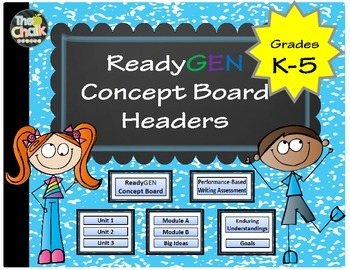 ReadyGen Concept Board Headers K-5