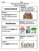 Ready Gen Do I Need It? Or Do I Want It? Vocabulary Lessons 5-8