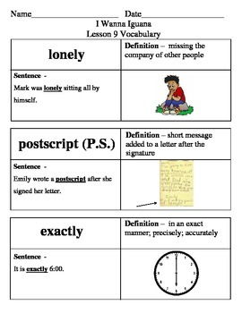 Ready Gen Do I Need It? Or Do I Want It? Vocabulary Lessons 9-12