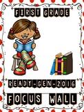Ready Gen FIRST GRADE 2016 Focus Wall (Polka Dots & Stripes Theme) - MEGA BUNDLE
