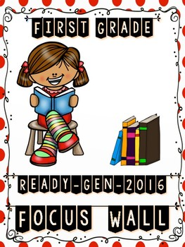 Ready Gen FIRST GRADE 2016 Focus Wall (Polka Dots & Stripes Theme) - MEGA BUNDLE