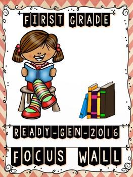 Ready Gen FIRST GRADE 2016 Focus Wall (SHABBY CHIC CHEVRON THEME) - MEGA BUNDLE
