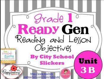 Ready Gen First Grade: Freebie: Unit Three B Reading and L
