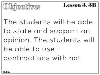 Ready Gen First Grade: Freebie : Unit Three B Writing Objectives