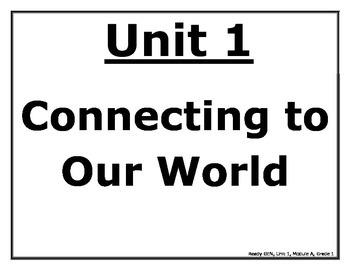 ReadyGEN First Grade Posters Unit 1 Module A