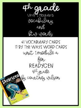 Ready Gen Fourth Grade Unit 1 Module B Vocabulary Cards