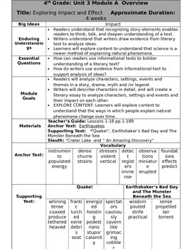 Ready Gen Fourth Grade Unit 3 Module A Overview Revised